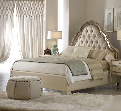 Hooker Furniture Sanctuary Upholstered Bed In Pearl Essence   King