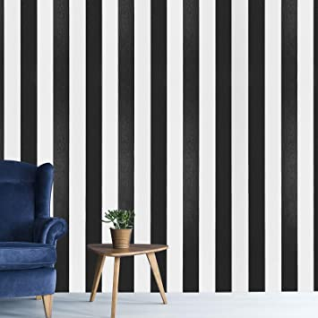 """17.7""""×118""""Peel and Stick Wallpaper Black and Blue Circle Pattern Wallpaper"""