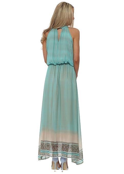 af5a3d5cf Just M Paris - Vestido - para Mujer Turquesa Agua  Amazon.es  Ropa y  accesorios
