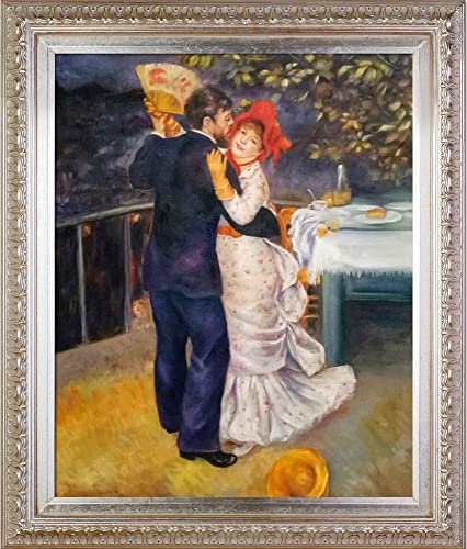 La Pastiche Dance in The Country with Elegant Champagne Framed Oil Painting, 30 x 26 , Multi-Color