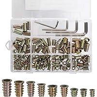 Schroefdraad Insert Moer Zinklegering Hex Socket Schroef M4 M5 M6 M8 Assortiment Tool Kit met 4 Inbussleutels voor…