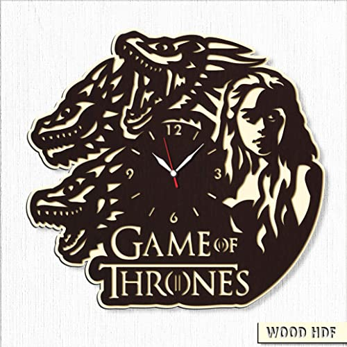 Game of Thrones Wood Clock – Game of Thrones Wall Clock – Best Gift for Fans Game of Thrones – Original Wall Home Decor