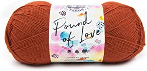 Lion Brand Yarn 550-132 Pound of Love Yarn, One Size, Pumpkin Spice