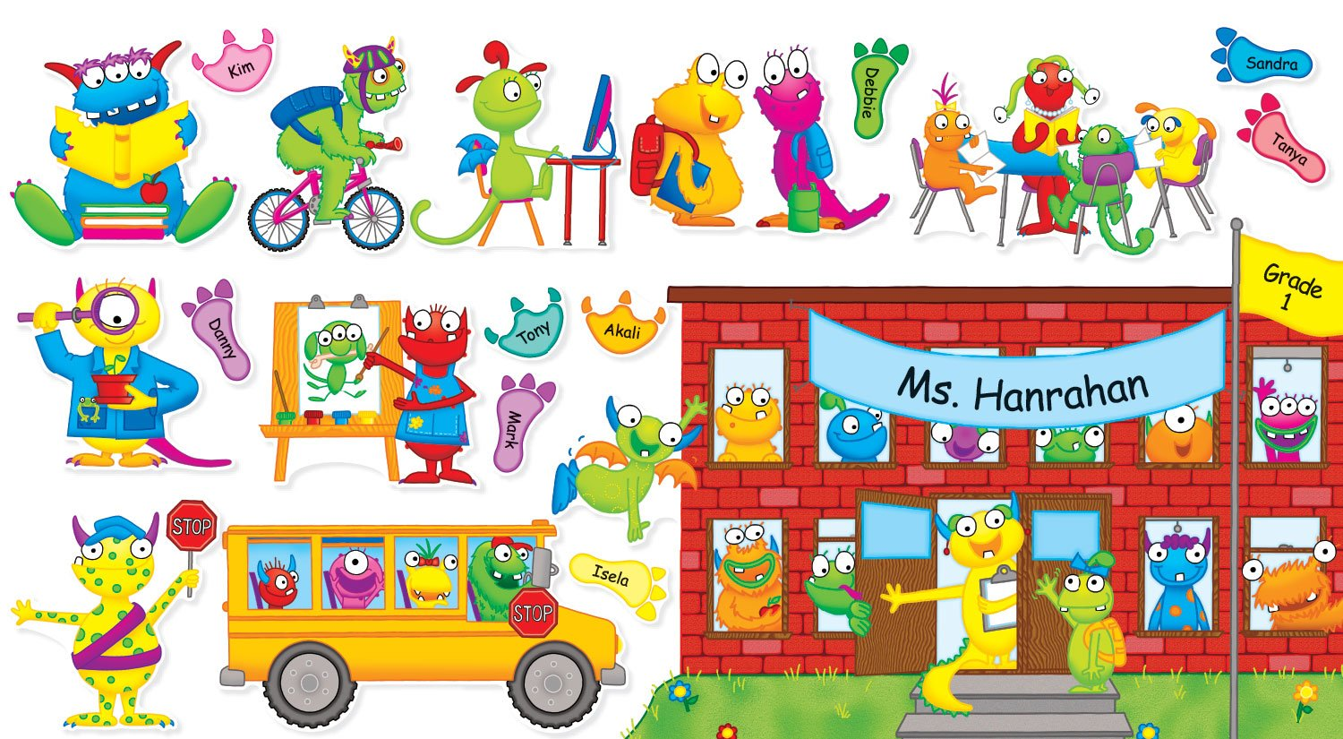 Scholastic Monsters Back to School Bulletin Board (TF8415) by Scholastic (Image #1)