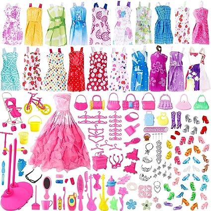Doll Dress Gown Clothes Barbie Princess Ballet Dresses Fashion Vintage Outfit
