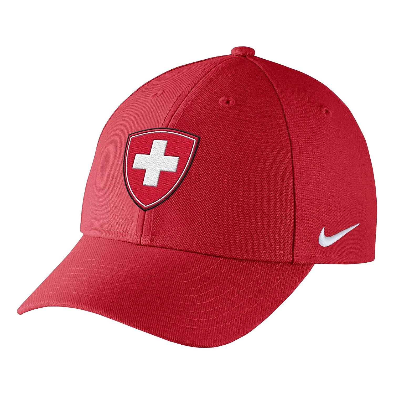 スイスHockey Nike 2018 Winter Olympics Structured Adjustable Hatレッド B077ZPJSPG