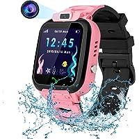 Vannico Smartwatch voor kinderen, LBS, positioneringstracker, IP67 waterdicht, SOS voice-chat-wiskunde-spelcamera…