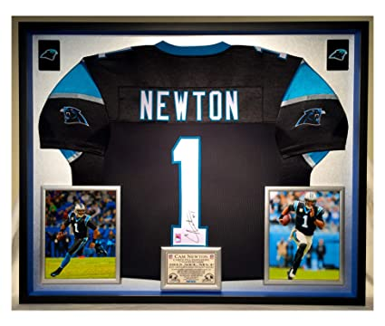 Image Unavailable. Image not available for. Color  Premium Framed Cam  Newton Autographed Signed Carolina Panthers Jersey ... 764698793