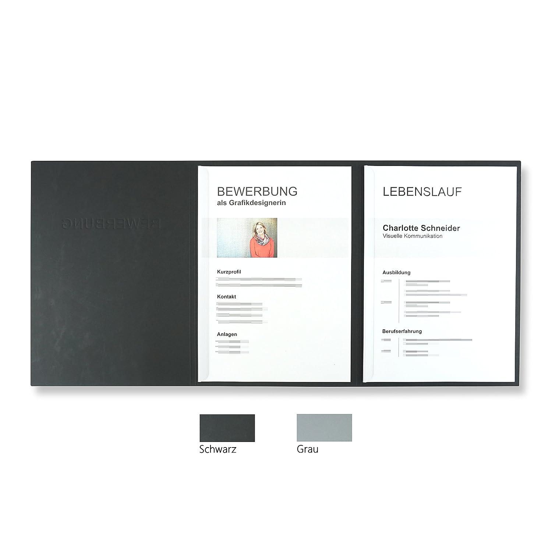 '10unidades de 3piezas carpetas para gris con 2rieles de sujeción en cartón de piel estructura//alta calidad en relieve
