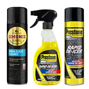 Prestone Líquido disparador deicer 500 ml + Spray 600 ml + mixra 500 ...