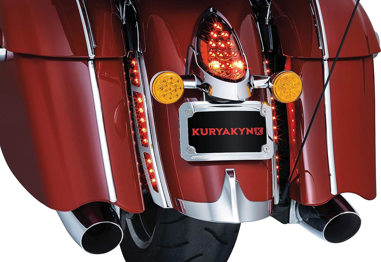 Rear Fender Running//Brake LED Strip Lights for 2014-2019 Indian Motorcycles Chrome Kuryakyn 5690 Motorcycle Lighting Accessory 1 Pair