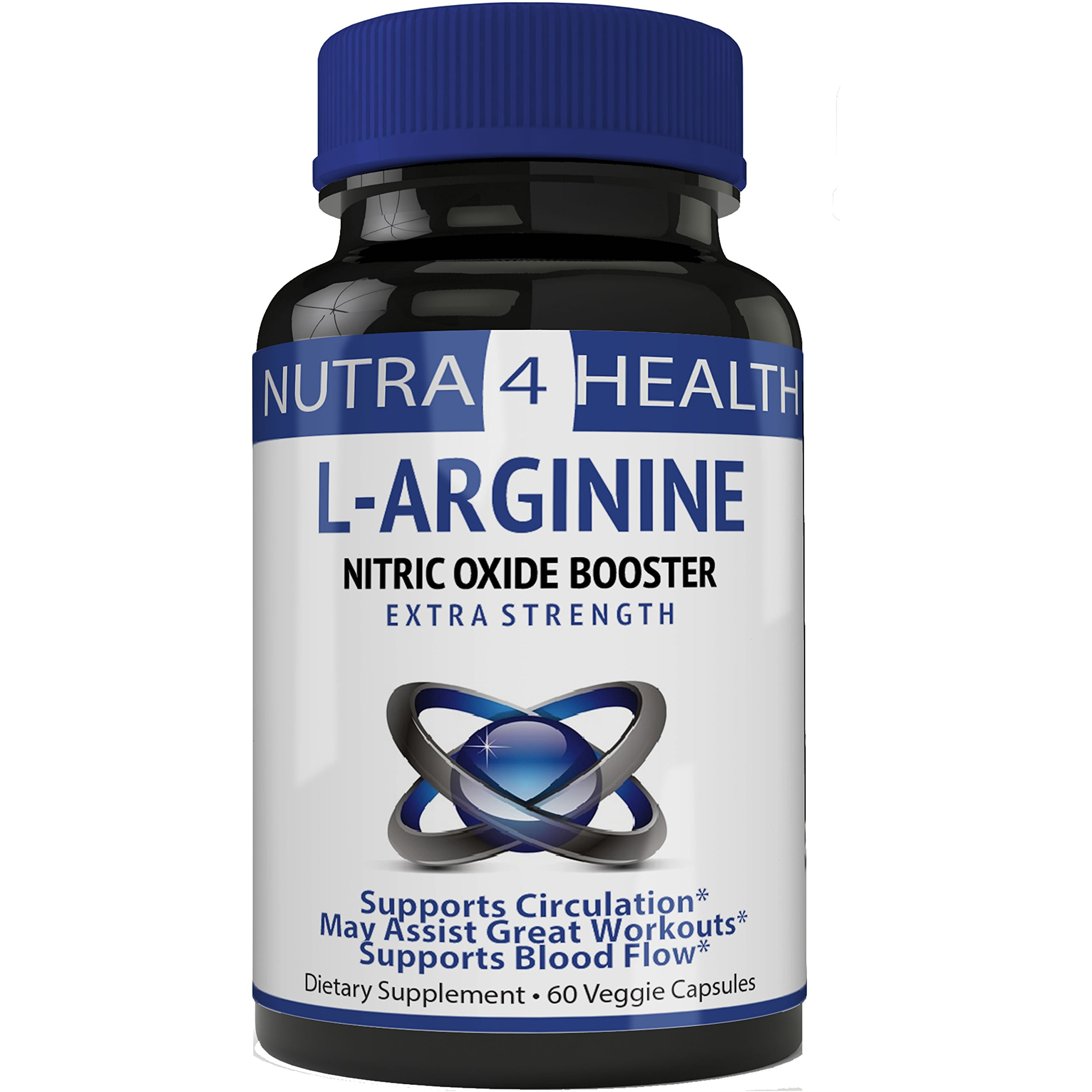 L-Arginine 1200mg 60 Capsules - Cardio Heart Supplements | Pastillas Para la Potencia Sexual | Nitric Oxide Boosters for Endurance and Energy | Boosts Sex Drive
