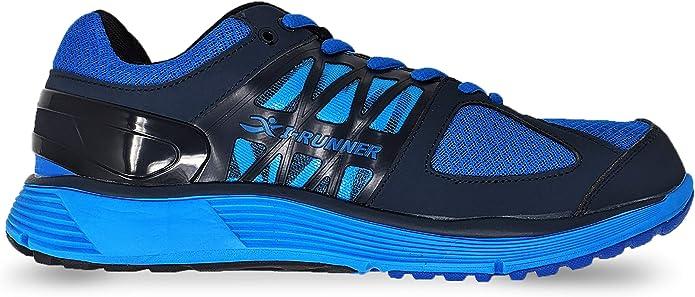 I-Runner Noble - Zapatillas de Deporte terapéuticas para Hombre, Extra Anchas y Profundas, con Cordones de Piel y Malla: Amazon.es: Zapatos y complementos