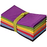 Cotton Craft Dinner Napkins - Multicolor 12 Pack - Pure 100% Cotton - 20x20 Oversized - Set contains one each Magenta, Lime,