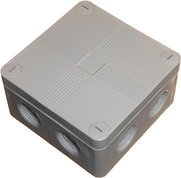 1 caja de conexiones para exteriores 91 mm x 47 mm con bloques de conectores y amortiguadores de color gris resistente al agua IP66: Amazon.es: Bricolaje y herramientas