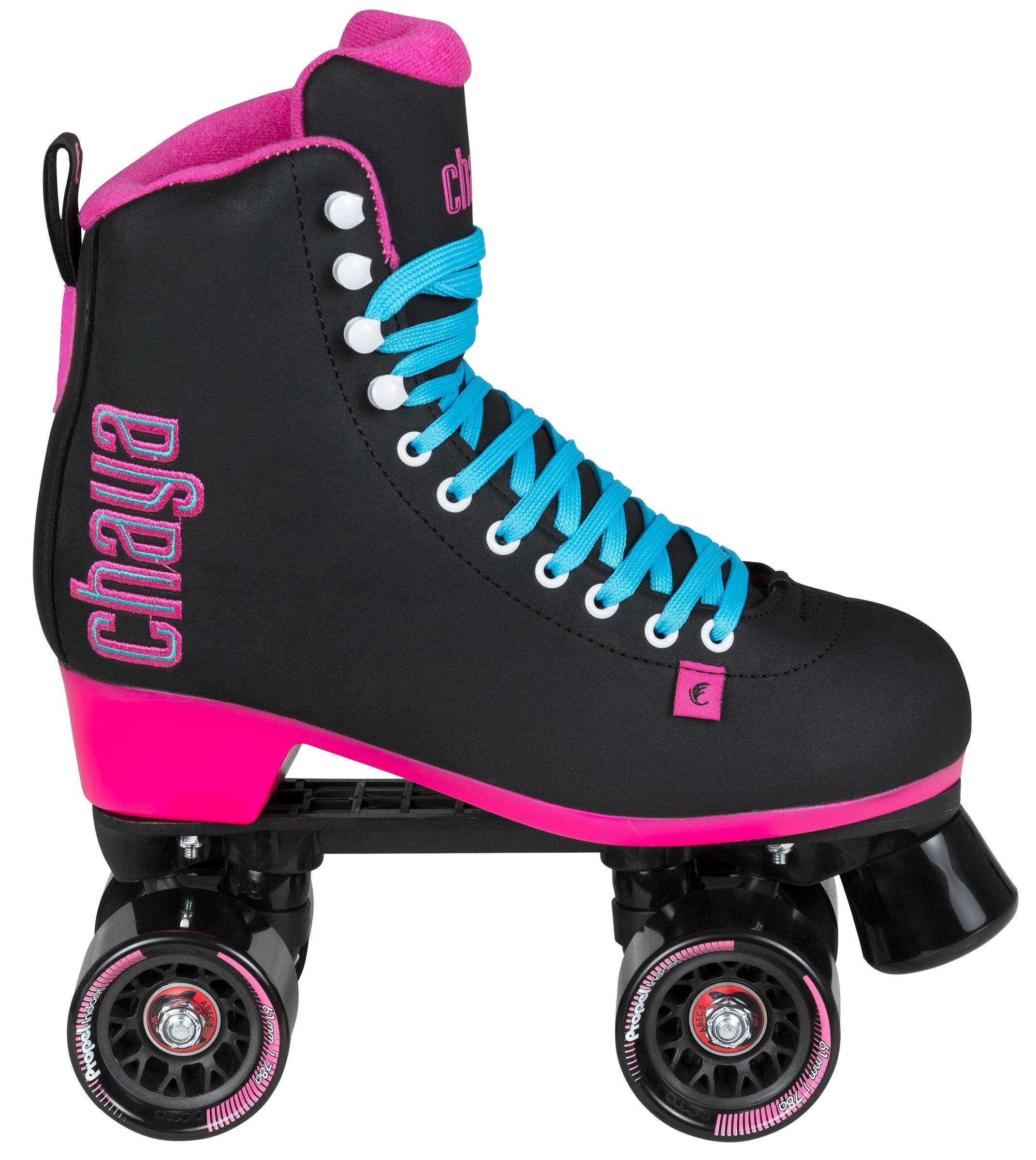 Chaya Melrose Black & Pink Quad Indoor/Outdoor Roller Skates (Euro 40 / US 9) by Chaya (Image #2)