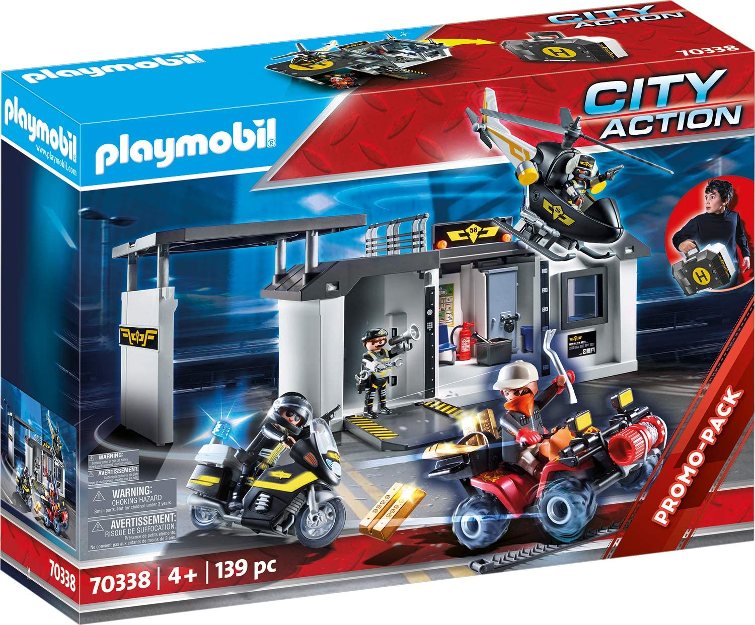 Playmobil Quartier General Policier d'Elite en promotion