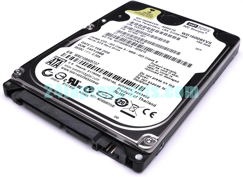 "Western Digital WD Scorpio Blue 160GB 5400 RPM 2.5/"" Laptop Hard Drive WD1600BEVT"
