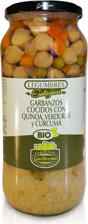 Guillermo Garbanzos Cocidos con Quinoa, Verduras y Cúrcuma ...