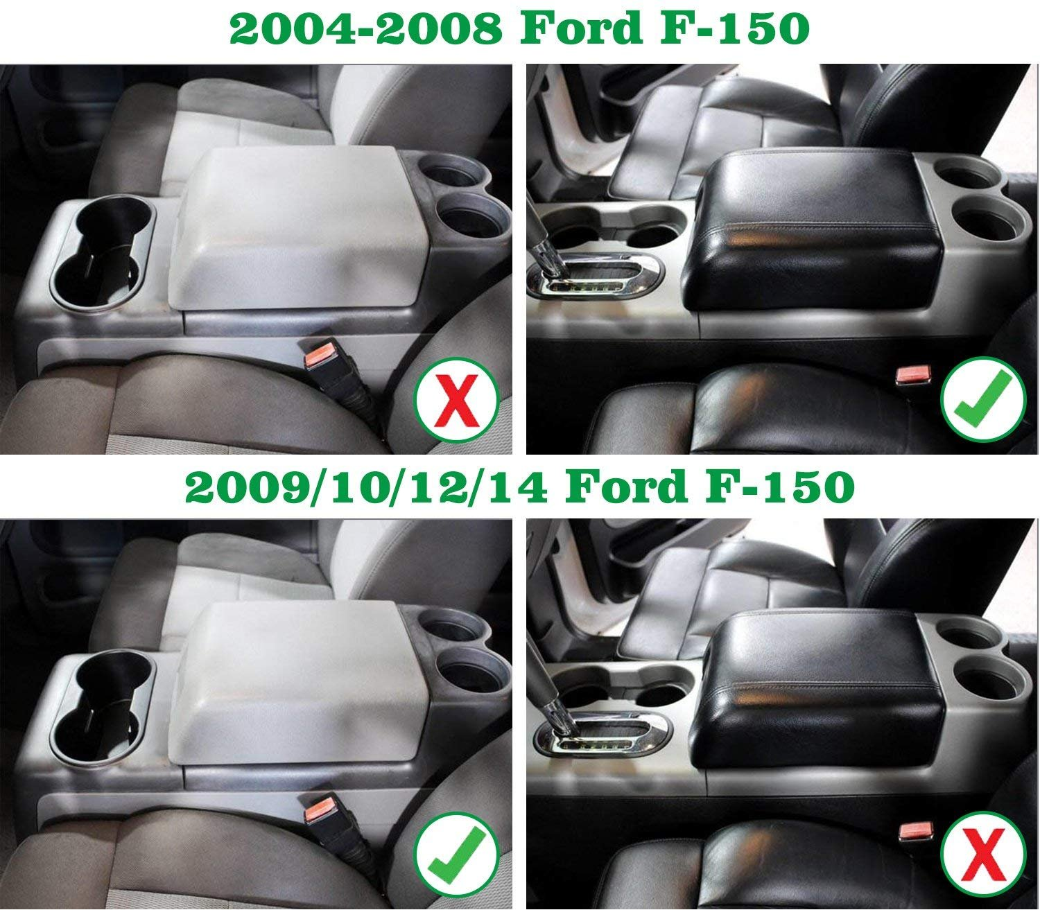 Winunite 2004 2014 1 Set Ford F 150 Front Center Stx Console Cup Holder Insert Rubber Replacement Fit 2008 With Flow Through