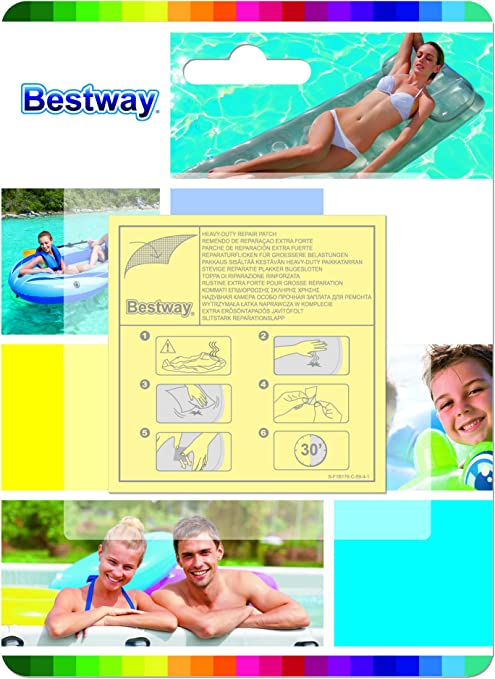 Bestway 62068 - Kit de Parches de Reparación Extra Fuertes 10 ...