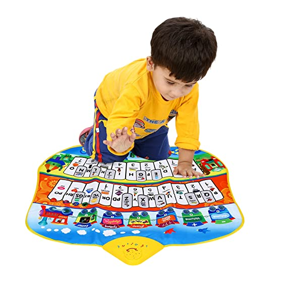 Playhood Baby Touch and Play Musical Piano Mat (Alphabets and Counting for Early Education) - 69 x 58 x 3 cm