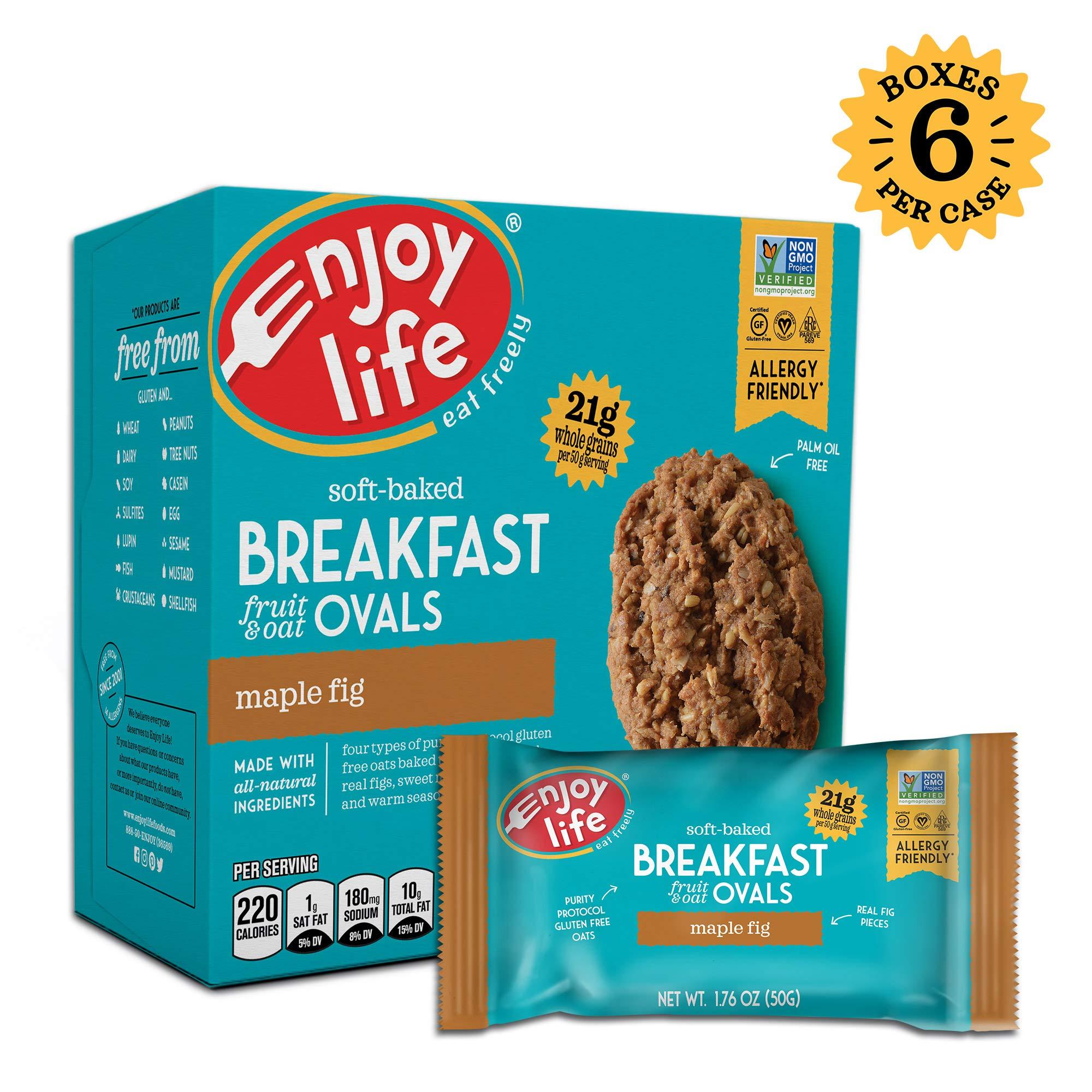Enjoy Life Gluten Free Nut Free & Vegan Breakfast Cookies, Maple Fig, 6 Count Boxes, 30 Bars by Enjoy Life Foods