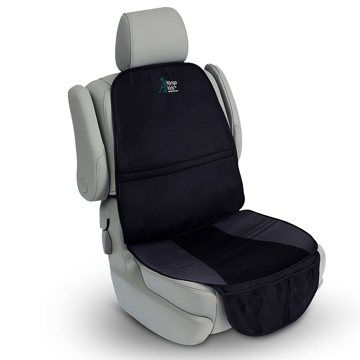 Universal Car Seat Protector – Protect your Vehicle against Spills and Scuffs. Keep your Sanity with an Organised, Clean Car. Increased Safety for your Child with Durable, Waterproof and Non-Slip Carseat Cover. Compatible with most Carseats KangoKids