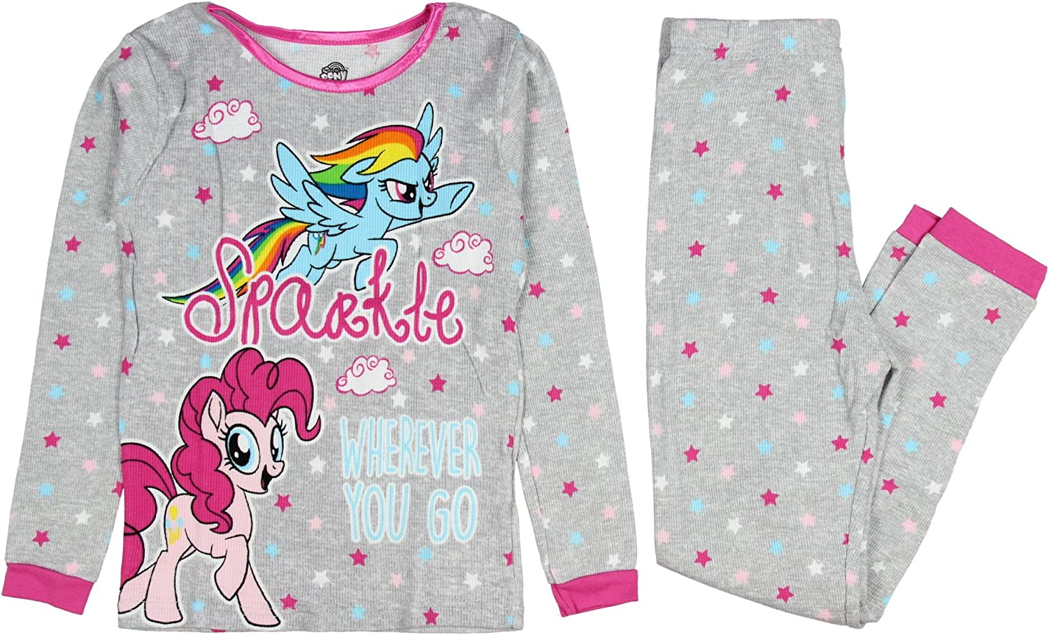 My Little Pony Movie Girls Pajamas Thermal Fitted Pant Long Sleeve Set