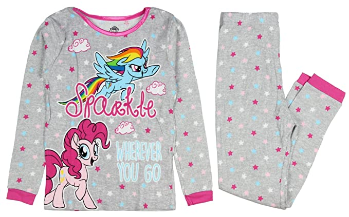 642bb7772 My Little Pony Movie Girls Pajamas Thermal Fitted Pant Long Sleeve Set (4)