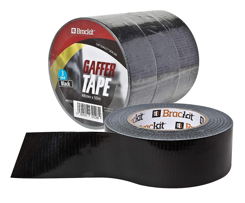 Amazon.com: Brackit - Cinta de pato a granel negra, cinta de ...