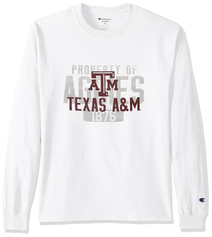 NCAA Texas A M Aggies Men's Champ Long Sleeve Tee 2 Large White