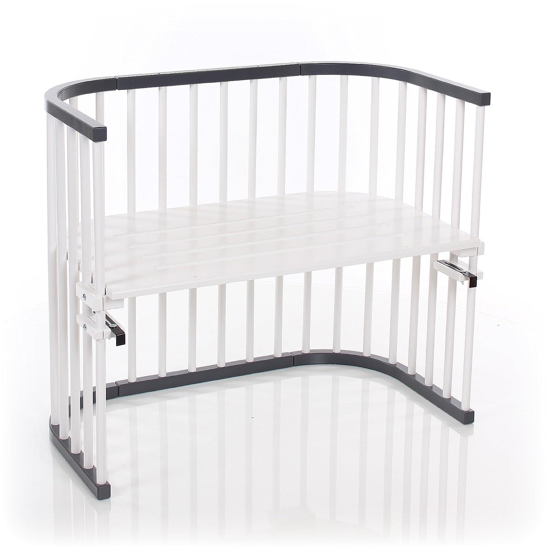 Gris Babybay 160108/auxiliar cama m/áxima de color gris//blanco lacado extra ventilado