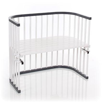 Babybay 160108 auxiliar cama máxima de color gris/blanco lacado extra ventilado, Gris