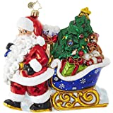 Christopher Radko Luge Full of Gifts Santa Claus Christmas Ornament