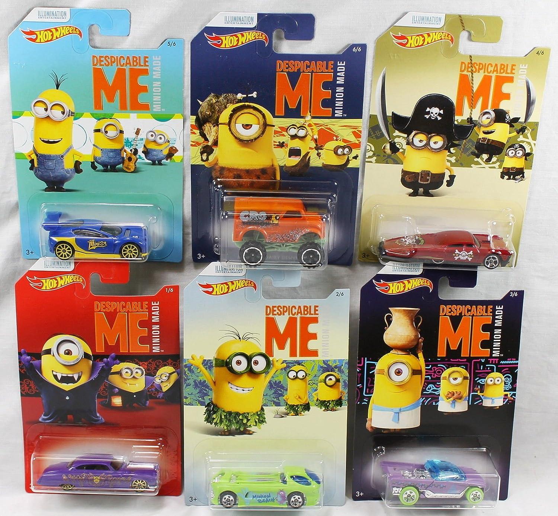 Amazon Com Hot Wheels Minions Set Of 6 Despicable Me Minion Made Toys Games