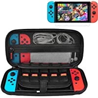 Nintendo Switch Case, CACACOL Hard Shell Game Traveler Travel Carrying Box Case for Nintendo Switch with 20 Game Cards…