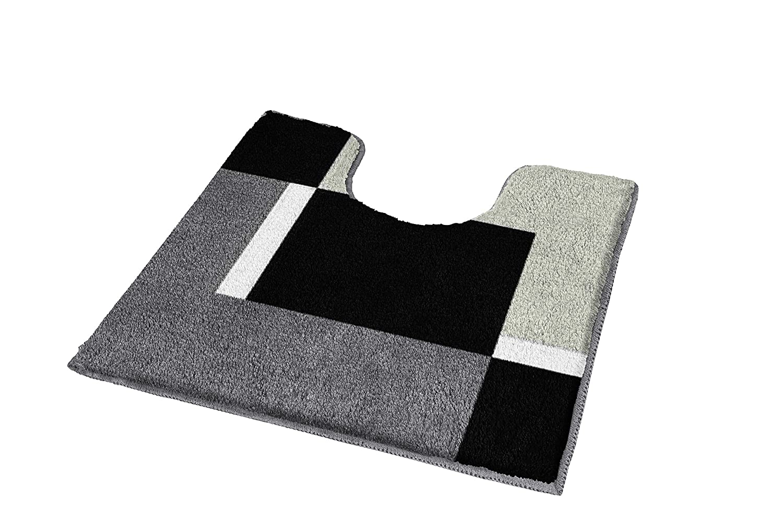 Kleine Wolke 4598977225/Dakota Badteppich Polyacryl Platinum 55 x 65 cm Platin