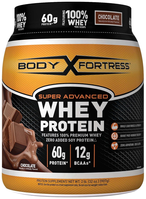 Body Fortress Super Advanced Whey Protein Powder, Chocolate, 2 Pound by Body Fortress B00QJ7XOQ0