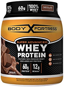 Body Fortress Super Advanced Whey Protein Powder, Chocolate, 2 Pound