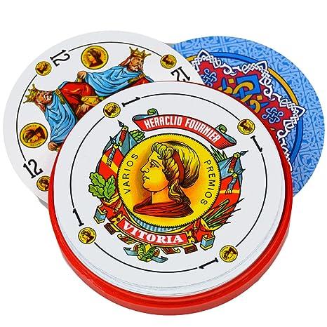 Cubierta de 50 Fournier Redondo español Naipes en Carcasa de ...