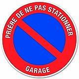 Chapuis DS29 Disque pvc adhésif D 280 mm Garage stationnement interdit