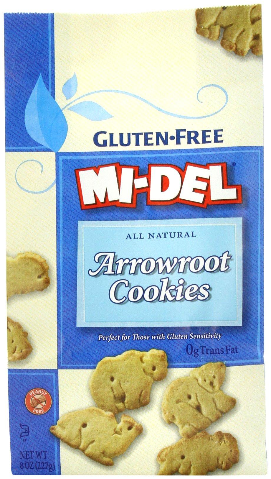 Mi-Del Gluten-Free Cookies, Arrowroot, 8 Ounce (Pack of 12)