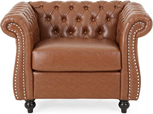 Christopher Knight Home Lucine Traditional Chesterfield Club Chair