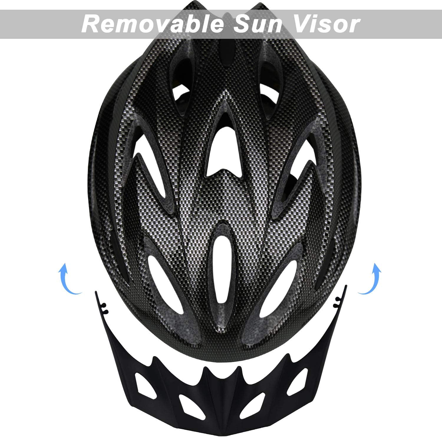 iWUNTONG Adult Bike Helmet Bicycle Helmet with Detachable Visor,Specialized Road Helmet for Mens Womens with Adjustable Size,Climbing Lightweight Helmet Cycling Helmet with CPSC//CE Certified