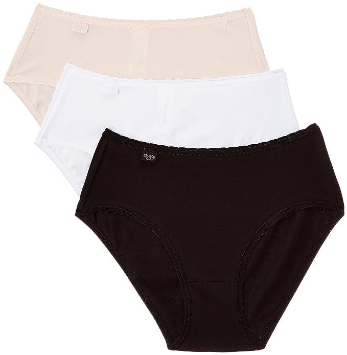 Sloggi 10147427 - Bikini para mujer, color mehrfarbig (m016 noir/blanc/porcelaine), talla 52: Amazon.es: Ropa y accesorios