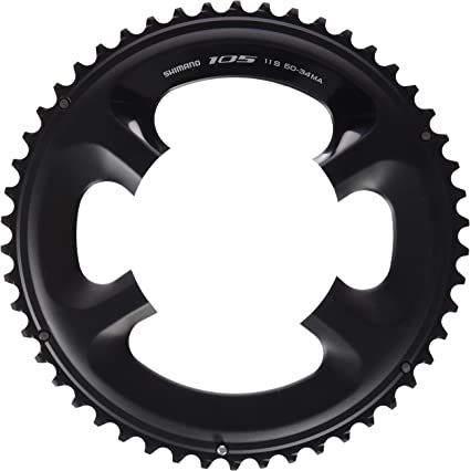 Shimano 105 FC-5800 Chainring Set 52//36 Black-NEW