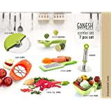 Ganesh Plastic Cutter Combo, 7-Pieces, Multicolour