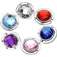 6 Ganchos para Monedero, Colorido Diamante Bolsa Plegable