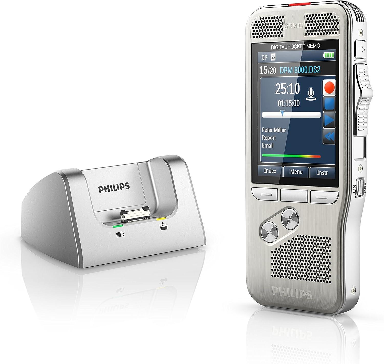 Philips Pocket Memo Diktiergerät Dpm8000 Mit Internationalem Schiebeschalter Bürobedarf Schreibwaren
